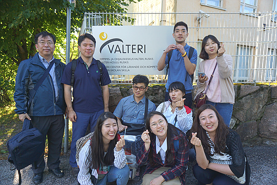 핀란드 Valteri Centre for Learning and Consulting, Ruskis에 방문한 PVC팀. ⓒ제민희